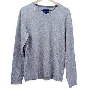 Apt 9 Light Gray Seriously Soft V Neck Sweater